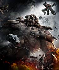 Bilder Darksiders Monsters Krieger Sprung Spiele Fantasy