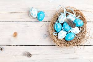 Bilder Ostern Ei Nest Bretter
