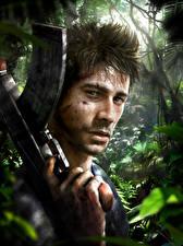 Photo Far Cry 3 Assault rifle Man Head Glance vdeo game
