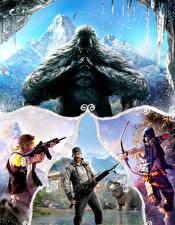 Bilder Far Cry 4 Mann Krieger Monsters Spiele