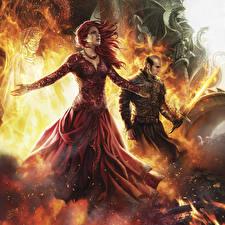 Fotos Game of Thrones Magie Gezeichnet Melisandra, Stannis Mädchens Fantasy