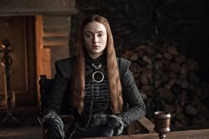 Hintergrundbilder Game of Thrones Braunhaarige Sansa Stark Film Mädchens Prominente