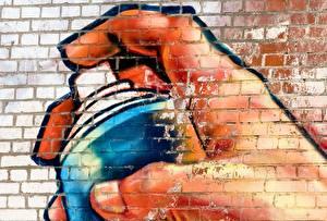Pictures Graffiti Walls Made of bricks
