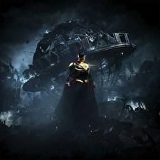 Bakgrunnsbilder Superhelter Supermann helten Injustice 2 Natt videospill