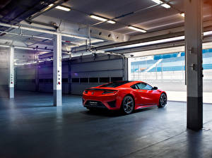 Pictures Honda Red Back view Acura, NSX Cars