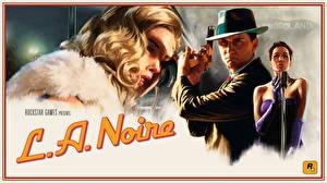 Tapety na pulpit L.A. Noire Policjanci Blondynka Martwy Gry_wideo