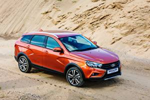Bilder Lada Orange Kombi Vesta Cross Autos
