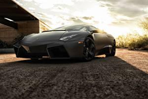 Pictures Lamborghini Black Reventon auto