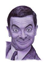 Image Men Head Funny Glance White background Mr. Bean, Rowan Atkinson Movies Celebrities