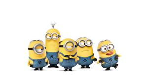 Wallpaper Minions White background