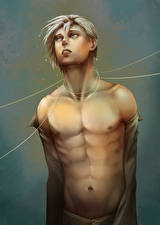 Wallpaper Painting Art Young man Fantasy