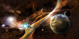 Wallpapers Planet Starship Space