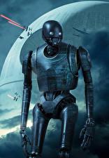 Bakgrundsbilder på skrivbordet Rogue One: A Star Wars Story Robot K-2SO Filmer
