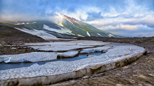 Pictures Russia Kamchatka Peninsula Mountains Ice Cities