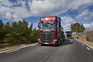 Image Scania Trucks Red Motion S 650 Cars