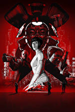 Picture Scarlett Johansson Ghost in the Shell 2017 Pistols Men Movies Girls