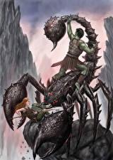Photo Scorpions Warrior Fighting Fantasy