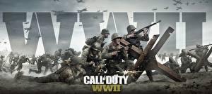 Hintergrundbilder Soldaten Gewehr Call of Duty: WWII Krieg Spiele