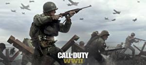 Fotos Soldat Gewehr Militär Schutzhelm Call of Duty: WWII computerspiel
