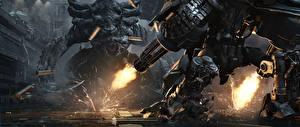Picture StarCraft 2 Monsters Machine guns Firing Games 3D_Graphics