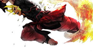 Image Street Fighter Young man Jump Ken Games