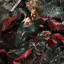Обои Супергёрл герой Супергерои Injustice 2 Игры Фэнтези Девушки