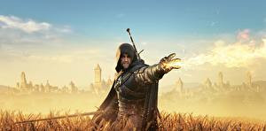 Wallpapers The Witcher 3: Wild Hunt Warriors Magic Hood headgear vdeo game