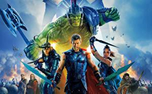 Hintergrundbilder Thor: Tag der Entscheidung Krieger Hulk Held Chris Hemsworth Tom Hiddleston Jeff Goldblum, Idris Elba, Jeff Goldblum, Cate Blanchett Film Prominente