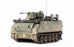 Picture Toys APC White background American ACAV, M113A1 Army