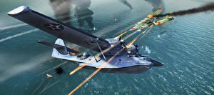 Fotos War Thunder Flugzeuge Wasserflugzeug computerspiel 3D-Grafik