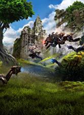 Picture Warriors Archers United Kingdom Horizon Zero Dawn Robot Jump London Games Fantasy