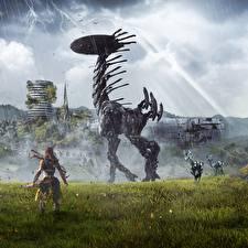 Wallpaper Warrior Horizon Zero Dawn Robot Birmingham Games Fantasy