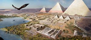 Hintergrundbilder Assassin's Creed Origins Ägypten Pyramide bauwerk computerspiel