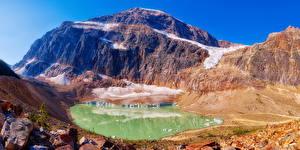 Bilder Kanada Park Gebirge See Jasper park