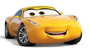 Hintergrundbilder Cars 3 Gelb Weißer hintergrund Animationsfilm