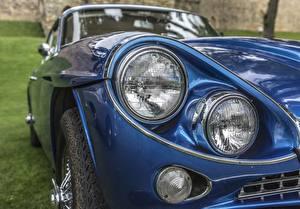 Fonds d'écran En gros plan Phare automobile Bleu Gran Turismo, Jensen C-V8 MKII voiture