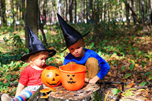 Pictures Halloween Pumpkin Boys 2 Hat Children