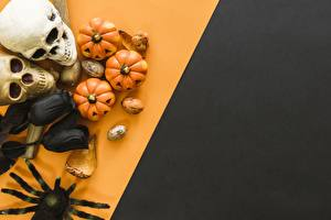 Desktop wallpapers Hellboy Holidays Skulls Pumpkin