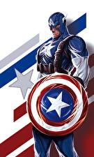 Wallpapers Superheroes Captain America hero Shield