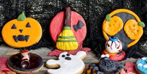 Papéis de parede Feriados Dia das bruxas Pastelaria Bolacha Design Alimentos