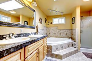 Wallpapers Interior Design Bathroom Mirror