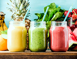 Picture Smoothie Three 3 Highball glass Jar Food