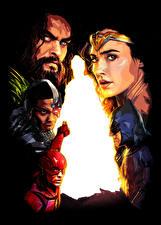Photo Justice League 2017 Wonder Woman hero Gal Gadot The Flash hero Batman hero Jason Momoa (Aquaman). Ray Fisher (Cyborg) Movies