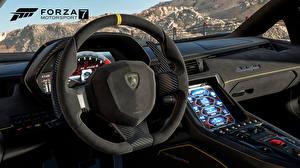Wallpapers Lamborghini Forza Motorsport 7 Driving wheel Games