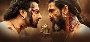 Bilder Mann Hautnah Baahubali 2: The Conclusion 2 Bärtiger Blut Prabhas, Rana Daggubati Film
