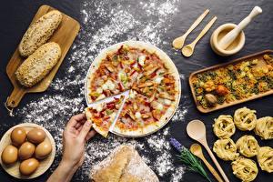 Hintergrundbilder Pizza Mehl Stücke Lebensmittel