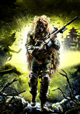 Image Sniper Sniper rifle Snipers Military disguise Ghost Warrior 2 vdeo game