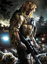 Picture Sniper Sniper rifle Snipers Camouflage Ghost Warrior 2 Games