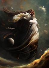 Bilder Stern Planeten Supernatural Wesen Astroyer Fantasy Mädchens