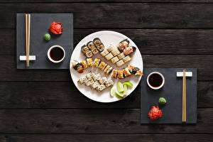 Pictures Sushi Fish - Food Chopsticks Plate Food